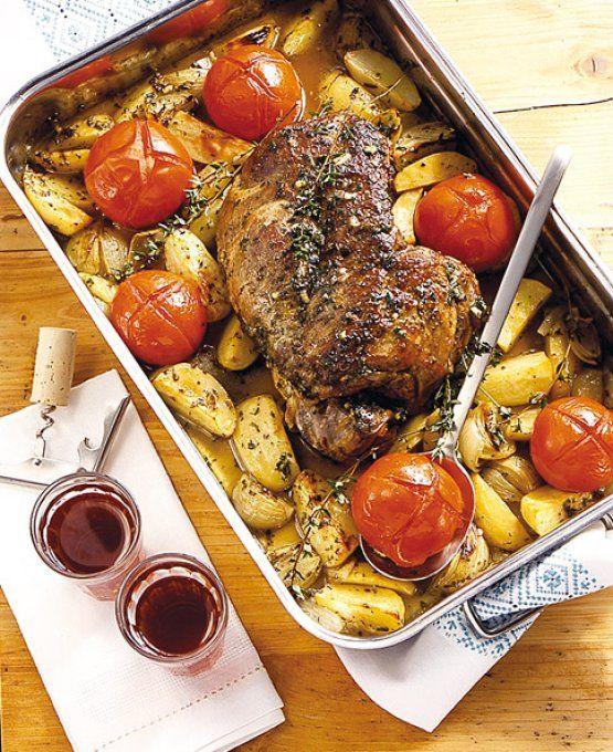 ✅Kräuter-Lammkeule mit Kartoffeln  Bei Gas zunächst stufe 2-3, die letzten 40min Stufe 5