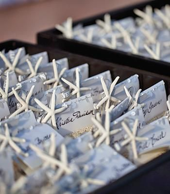 Attach starfish to placecards and place them in sandboxes!