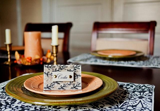 DIY Autumn Leaf Table Name Cards
