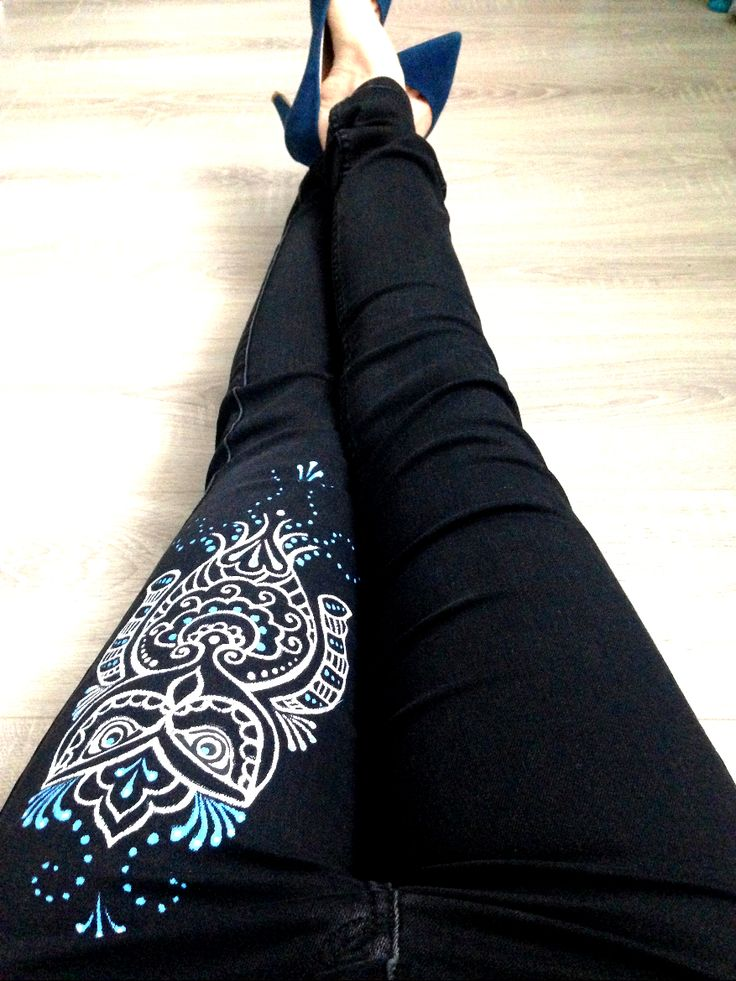 17 Best Ideas About Painted Jeans On Pinterest Diy Jeans
