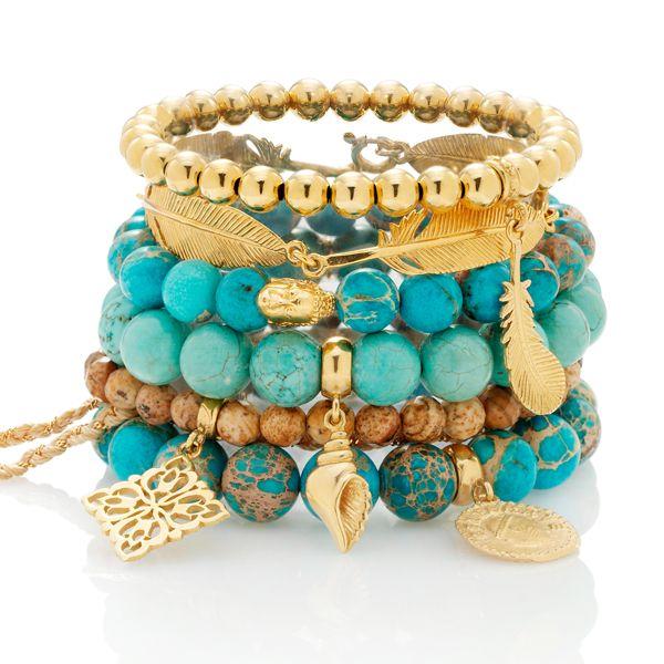 #mokobelle #mokobellejewellery #bracelet #tropical #island #gold #turquoise #shell #summer #sea #jewellery #jewelry