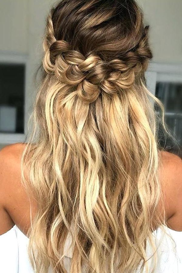 Hairstyles For Long Thin Hair Easy Ideas For Long Fine Hair Loose Curls Hairstyles Simple Prom Hair Long Hair Updo