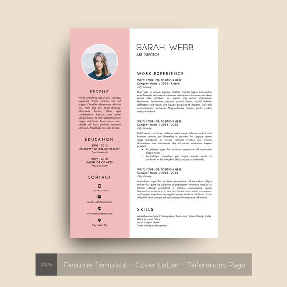 Resume Template Ms Word  Sarah Creativework  Resume