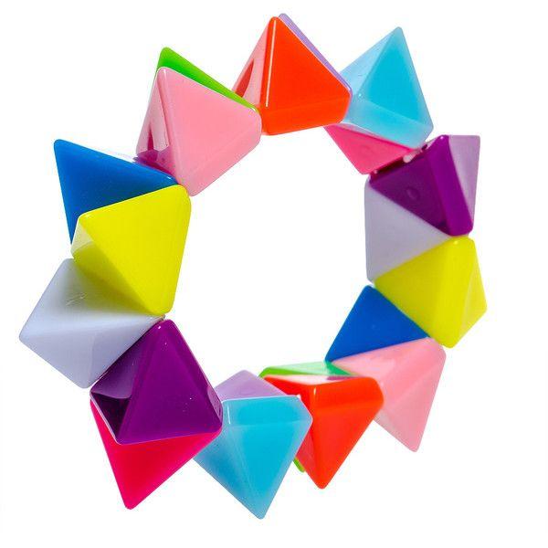 Blue Banana Triangle UV Colours Bracelet #mybetsonBetts #BettsRaceDayReady