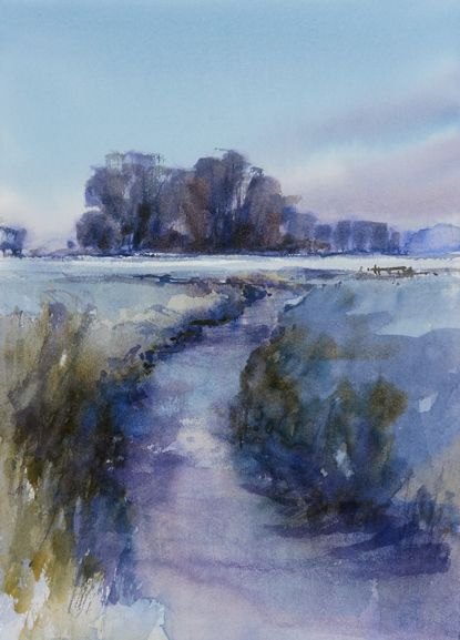 Arie Jekel | Cold polder | Watercolor