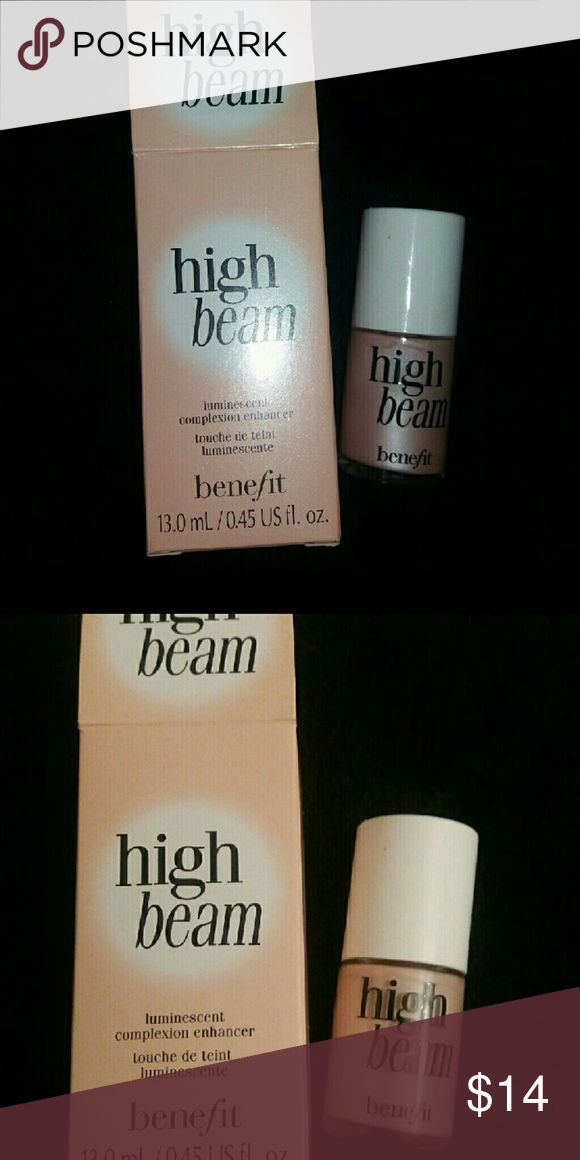 Benefit high beam Benefit cosmetics high beam highlighter. Never used opened box! Full size Makeup Luminizer