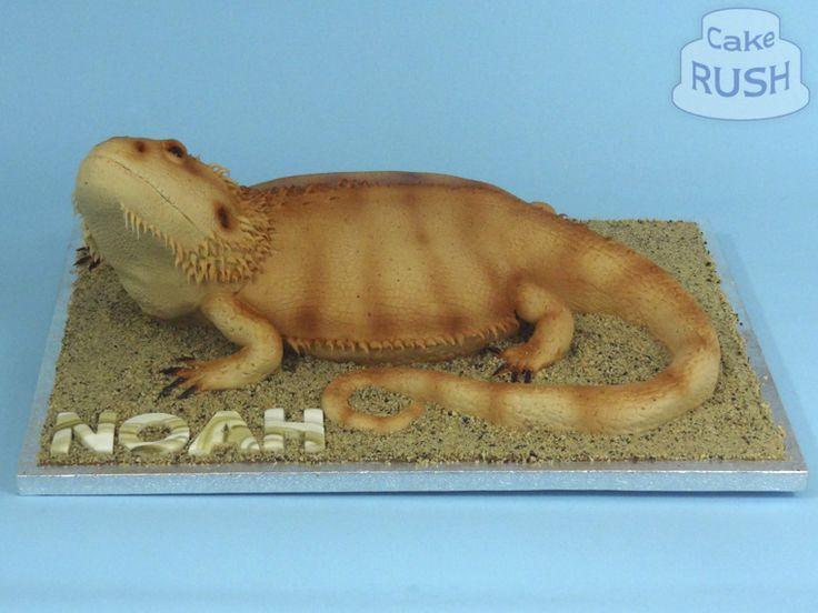 Bearded dragon cake