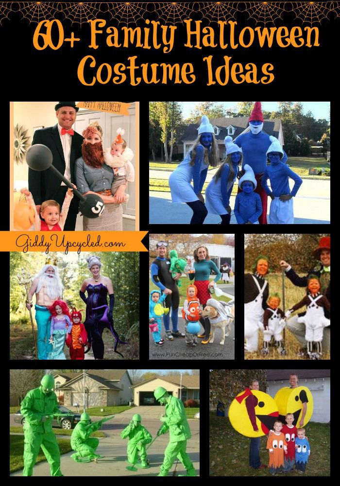 60+ Family Halloween Costume Ideas!   GiddyUpcycled.com