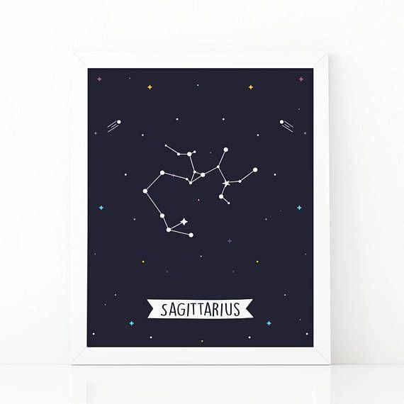 Sagittarius Print Sagittarius constellation Zodiac #Nursery #nurseryprints #nurserydecor #etsy #shooshprints #nurserywallart #nurseryprint #digitalprint #wallart #nurserydecor #kids #kidsdecor #etsyseller #etsyshop #decoration #printable #printdesign  #printableart