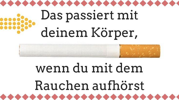 Du möchtest mit dem Rauchen aufhören? Gute Entscheidung!! Ich habe dir aufgeschrieben, was passiert, wenn du aufhörst