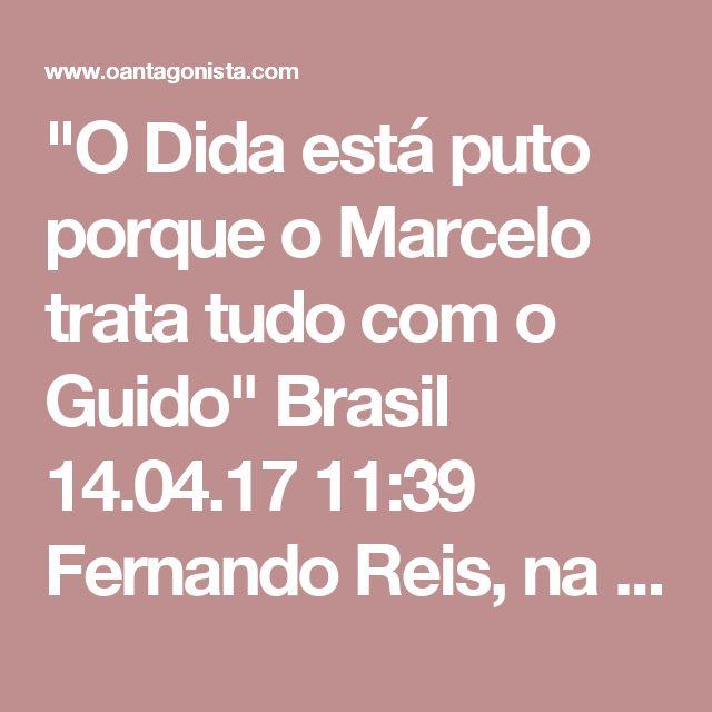 """""""O Dida está puto porque o Marcelo trata tudo com o Guido""""  Brasil 14.04.17 11:39 Fernando Reis, na sua delação à PGR, conta que Aldemir Bendine, na presidência da Petrobras, achacou a Odebrecht um mês antes de Marcelo Odebrecht ser preso. Bendine, o Dida, vinha manifestando a sua irritação com a Odebrecht desde o início de 2014, quando ocupava a presidência do Banco do Brasil. Segundo Fernando Reis, ele ouviu o seguinte de André Gustavo Vieira da Silva, emissário de Bendine: """"O Dida está…"""
