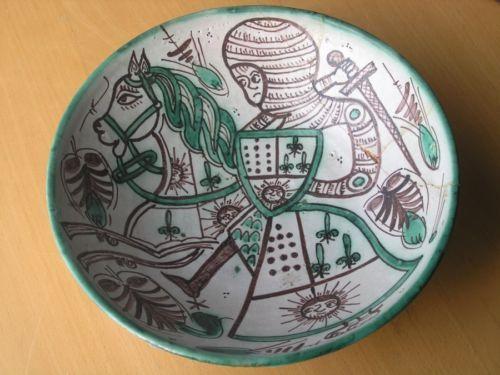 Huge Fantastic Vintage Spanish Pottery Charger Bowl Domingo Punter Picasso Style | eBay