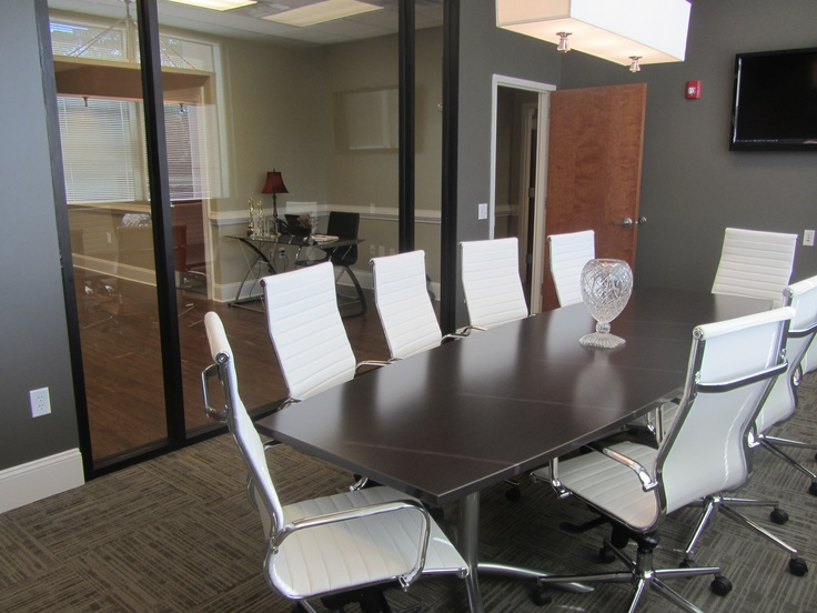 Our New Real Estate Office Conference Room With Teleconference Capabilities  And Comfy, Pretty Chairs!