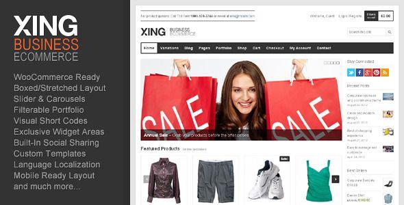 Xing - Business / ecommerce WordPress Theme