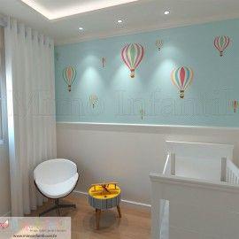Balões (Papel de Parede para meia parede) http://www.mimoinfantil.com.br/lojavirtual/12-todos-produtos
