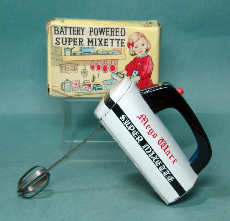Battery operated and mad in Japan - circa the 1960's. About 5 inches long and works great. In old stock/like new condition. The box is fair with a missing interior end flap. Great graphics!