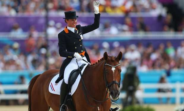 A heartbroken Adelinde Cornelissen stopped mid-routine, deciding not to risk her beloved horse Parzival even though he appeared to have recovered from the illness he had caught from an insect bite