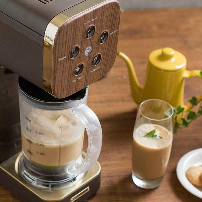 コーヒーメーカーとミキサーの機能が一つになった、ハイブリットコーヒーマシン。コーヒーはもちろん、フラッペやスムージーをボタンを押すだけで楽しめます。 新生活 送料無料。クワトロチョイス QCR-85 (コーヒーメーカー スムージー ミキサー ジューサー ブレンダー フラッペ カフェ 珈琲 アイス フラッペメーカー スムージー グリーンスムージー コーヒーマシン SOLUNA クアトロチョイス 母の日)【ポイント10倍 送料無料】