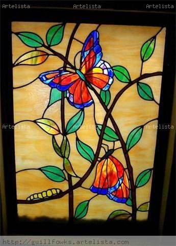 316 best images about stained glass butterflies for Butterfly stained glass craft
