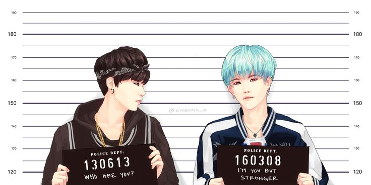 Remember that time when Suga had black hair? Past meets Present