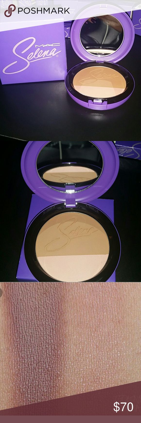 Selena's Mac Collection Blush Selena's Powder Blush. Beautiful light brown n light colored shimmer. Picture found online. Product is sold out, brand new, original box, untouched.  ALL OFFERS WELCOMED.. SHIP NEXT DAY Selena Mac Collection Makeup Blush