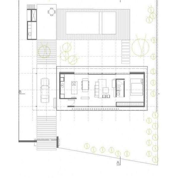 Open To Outdoors Horizontal House Plan in Argentine Countryside  ... ❤ liked on Polyvore