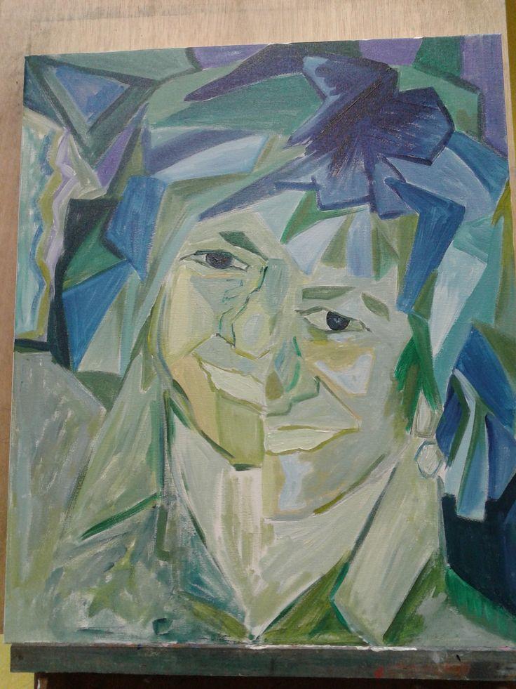 autoretrato cubista inacabado