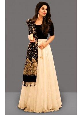 Bollywood Inspired - Festival Wear Off White Lehenga Choli - 60278