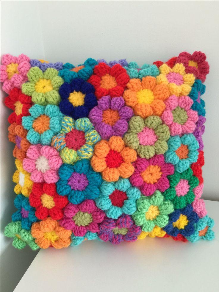 Flower Crochet Cushion Wool Couch Pillow Mooie Kussen