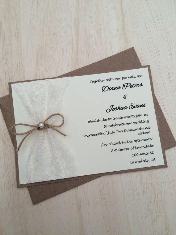 Invito Matrimonio Rustico : Oltre fantastiche idee su inviti in pizzo pinterest