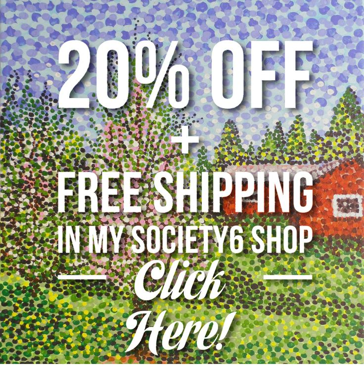 Promo: 20% Off + Free Shipping on Everything in my Shop With This special Link. Just click on this image here as shown! Start: Thursday, 4/6 @ 12:00am PT End: Sunday, 4/9 @ 11:59pm PT Note: You must click on this unique image link to activate promo in my Society6 shop.  #society6offers #discounts #specialoffers #deals #moneyoff #reductions #sales #freeshipping #20percentoff #society6 #artcollectors #artoffers #konstnär #konst #rebatt #shoppingdeals #shopper #shopshop #whileofferlasts