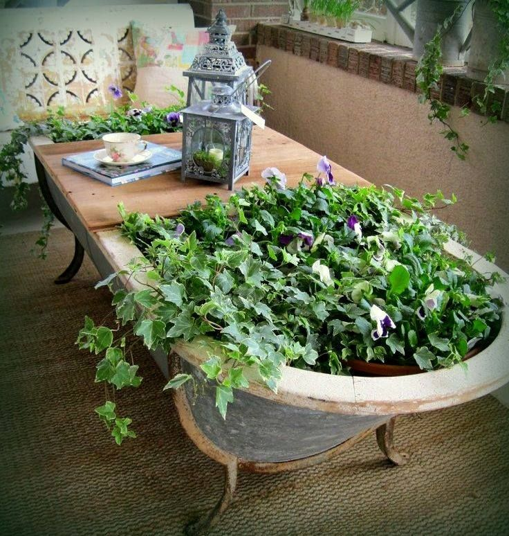 dual purpose...table & planter <3