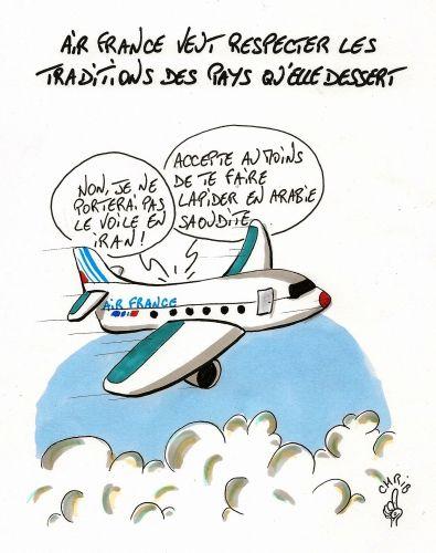 air france, hôtesses de l'air, avion, iran, arabie saoudite, voile islamique, chrib