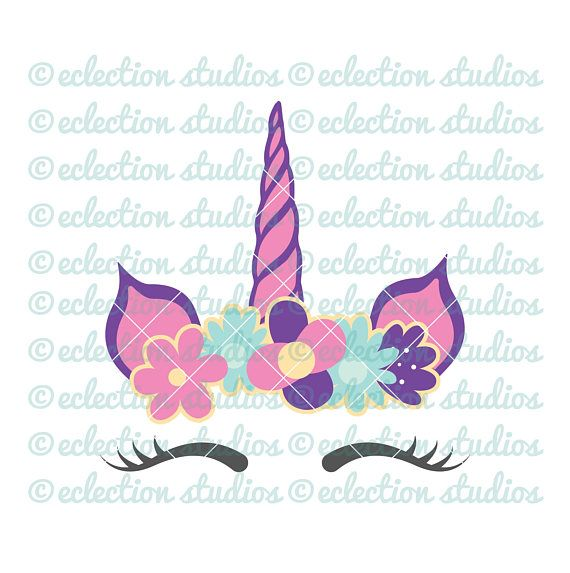 Unicorn SVG, Unicorn horn and ears cake topper, unicorn face cake, SVG, DXF, eps, jpg, png file for silhouette/cricut die cutting machine