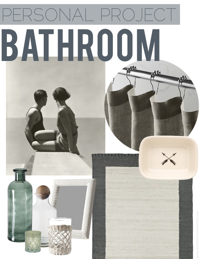 bathroom inspiration board.