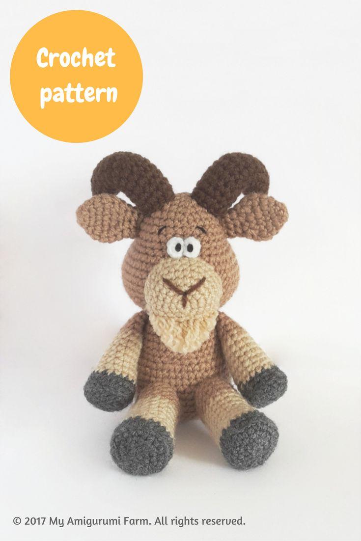 Crochet goat amigurumi pattern