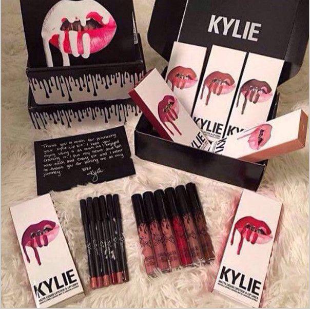 2016 Hot selling! New Lip Gloss Lipstick Lip Gloss Kylie lip Kit Eyeliner lip gloss liquid lipstick matte 13 colors kylie jenner