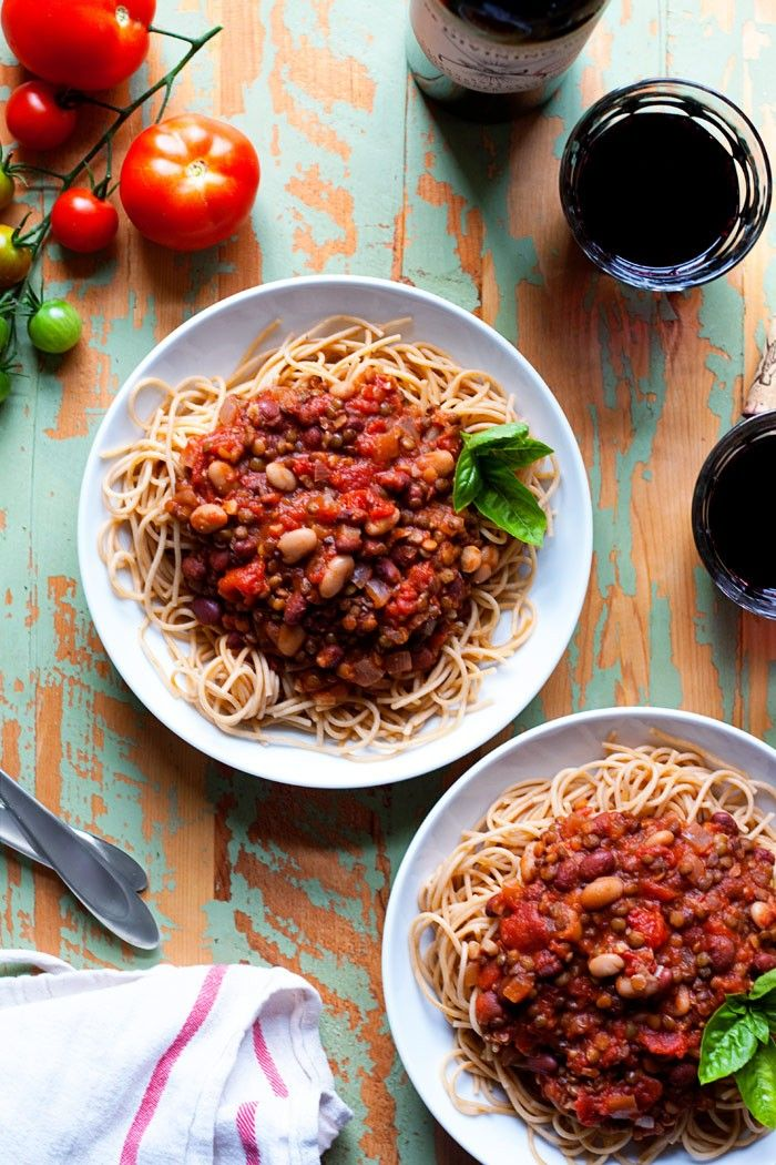 Legume My Marinara Sauce Recipe - Tomatoes and garlic simmered together with lentils and beans for a thick, hearty, and protein-rich take on classic marinara. Vegetarian/vegan.