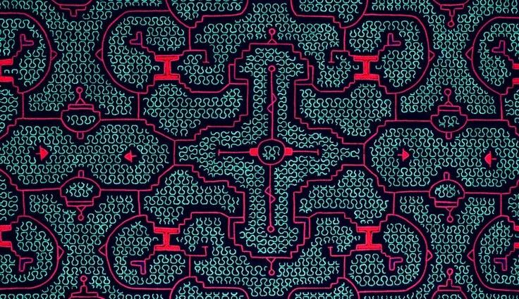 Shipibo patterns. Jungle circuitry.