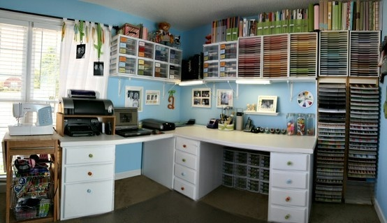 holy scrapbook organization.: Scraproom, Scrap Rooms, Organizations Ideas, Crafts Rooms, Crafts Spaces, Dreams Rooms, Scrapbook Rooms, Rooms Ideas, Paper Storage