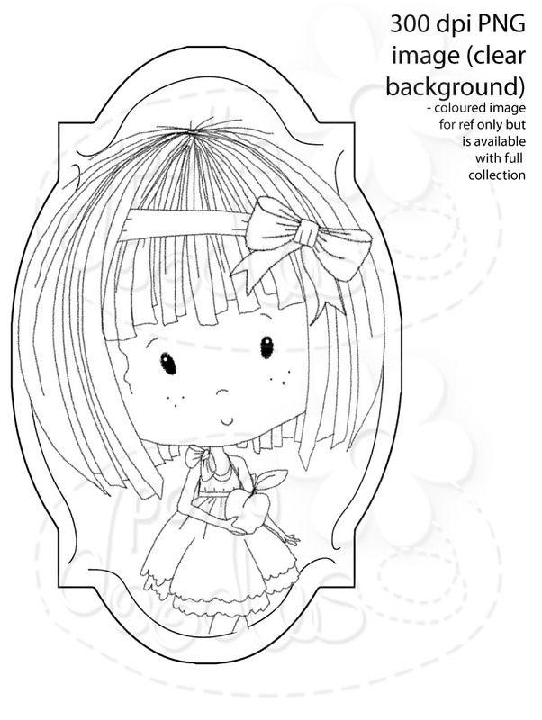 Winnie Sugar Sprinkles Springtime - Healthy Eating - Printable Crafting Digital Stamp Craft Scrapbooking Download - Polkadoodles Ltd