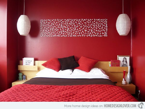 17 Best Ideas About Red Bedrooms On Pinterest