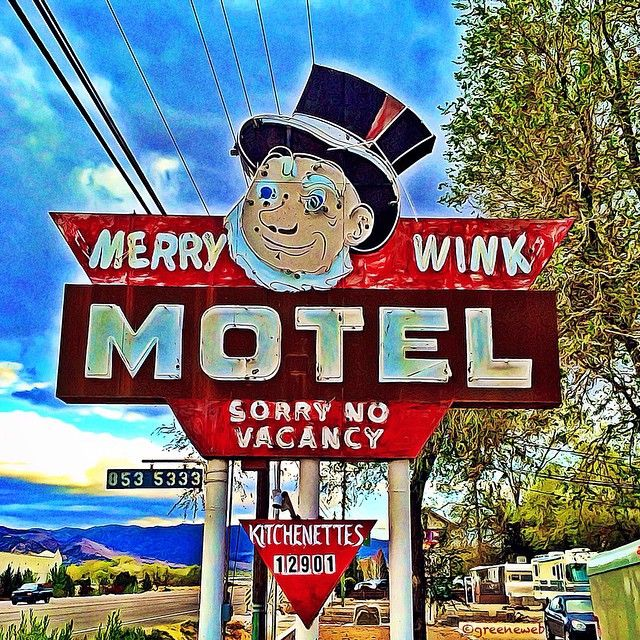 #Motel | Sorry, but they're full up; try the Bates, just around the bend.