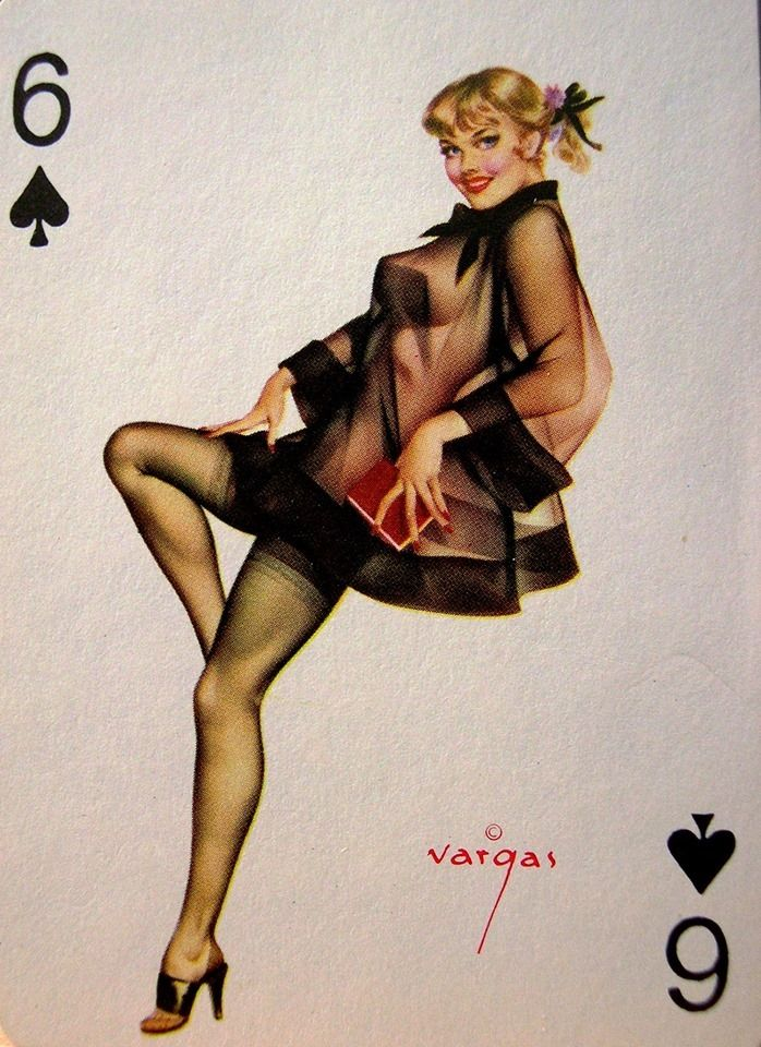Vargas girl playing card.