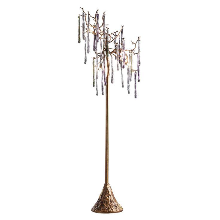 Elk Lighting Stalavidri 5 Light Floor Lamp In Talha Bronze With Multi Hued  Spires