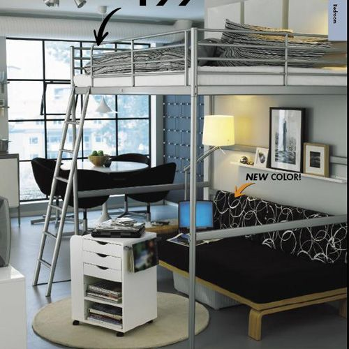 troms loft bed cama suspensa pinterest. Black Bedroom Furniture Sets. Home Design Ideas