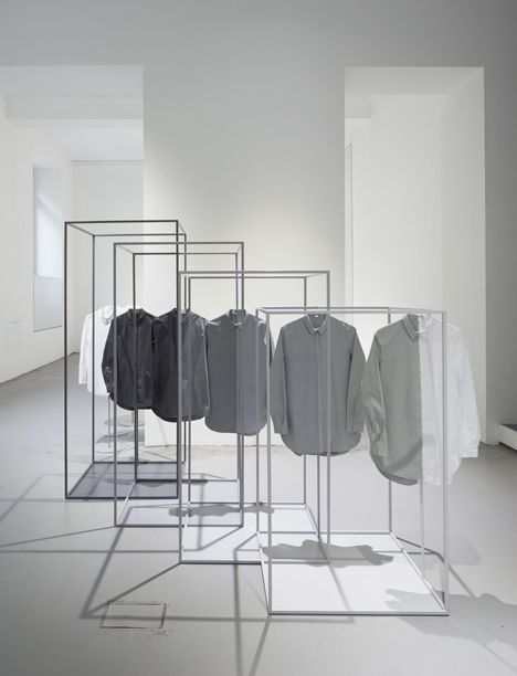 Nendo reframes the white shirt as centrepiece for COS installation in Milan