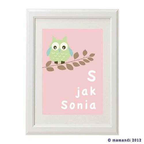 'S jak Sowa' plakat na www.mamandi.pl