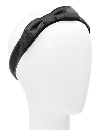 L Erickson Leather Bermuda Bow Headwrap  Black -- Find out more about the great product at the image link.(This is an Amazon affiliate link and I receive a commission for the sales)