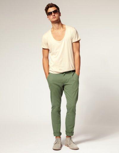 Basic Green Chinos